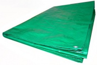 """Тент """"Тарпаулин"""" укрывочный 3x5 м с люверсами (120 г/м.кв, светло-зеленый/серебристый)"""