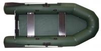 Надувная моторная лодка ПВХ Фрегат 280Е двухместная под мотор до 5 л.с. (л/т, зеленый)