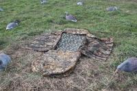 Засидка лежачая бескаркасная для охоты на гуся (Россия)