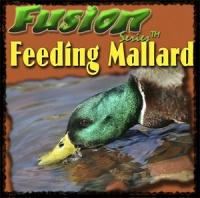 MF994 Надувное чучело кормящегося селезня кряквы с вибратором