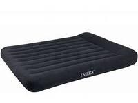 Надувной матрас INTEX 66768 Classic с подголовником 137*191*30 см