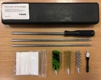 Набор для чистки оружия 12 калибра в пластиковом футляре арт.А201