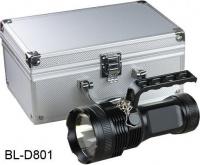 Ручной фонарь BL-D801 с ручкой в алюминиевом кейсе