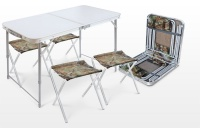Набор складной туристической мебели (стол складной влагостойкий + 4 стула) арт.ССТ-К2