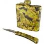 Набор охотника Adrenalin Hunter Camo (складной нож, фляга) 32903