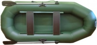 "Надувная лодка ПВХ ""Фрегат М-2"" гребная двухместная (л/т, зеленый)"