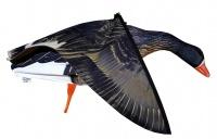 Объемное чучело белолобого гуся со складными (машущими) крыльями Seven Birds