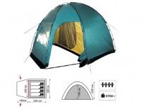 Палатка Tramp Bell 4 (V2) кемпинговая четырехместная двухслойная (зеленый) TRT-81