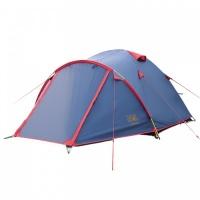Палатка Sol Camp 4 трекинговая четырехместная двухслойная (синий) SLT-022.06