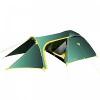 Палатка Tramp Grot трекинговая трехместная двухслойная (зеленый) TRT-008.04