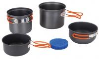 Tramp набор туристической (походной) посуды из анодированного алюминия на 1-2 персоны TRC-075